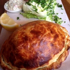 Mulloway Fish Pasty with Icebert, Tartare and Lemon