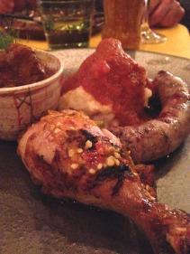 BRAAI Plate - boerewors, peri peri chicken, potjie, pap/sheba