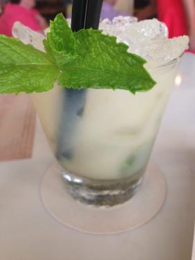 The Hanoi Hannah - mint, coconut sugar, fresh lychee, hibiscus bitter, bourbon
