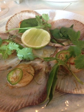 So Diep Nuong - grilled Hervey Bay scallops, chilli, lime, soy