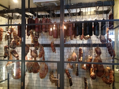 The enclosure of house made charcuterie!