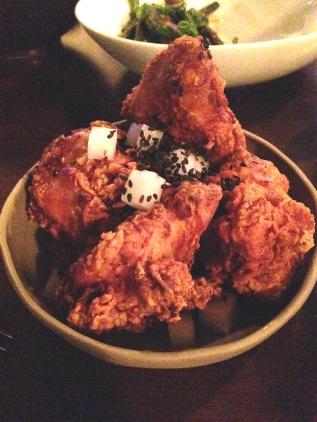 Shrimp brined chicken from Moon Park, Sydney