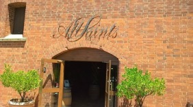 The entrance to the All Saints cellar door and restaurant