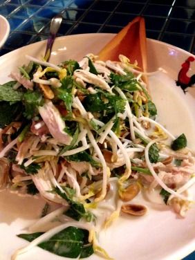 Chicken and banana blossom salad