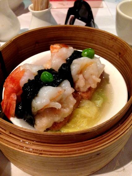 Prawn, tofu and seaweed