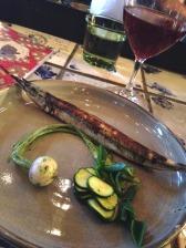 Garfish in roast chicken juice and joyous kelp - David