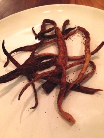 Salsify cooked in butter
