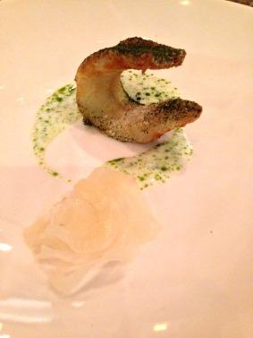 Fried Stradbroke Island garfish, salt and vinegar, preserved fennel, powdered samphire