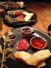 Sourdough, saltbush and Biryani saucisson and 4 year fermented olives - Africola