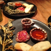 Sourdough, saltbush and Biryani saucisson and 4 year fermented olives - Africola