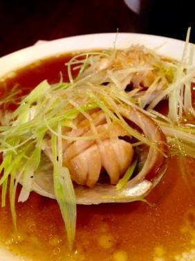 Abalone with ginger and shallots