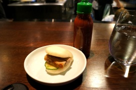 David Chang's famous Pork buns with sriracha