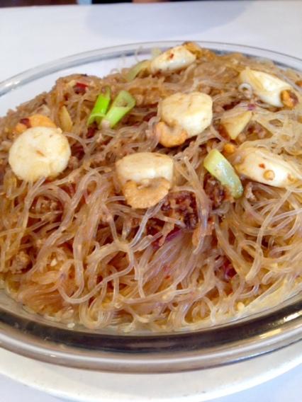 Golden scallop noodle