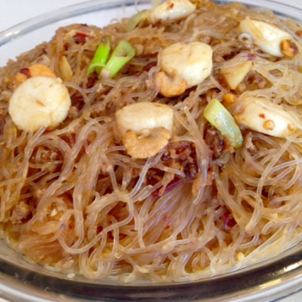 Golden scallop noodle