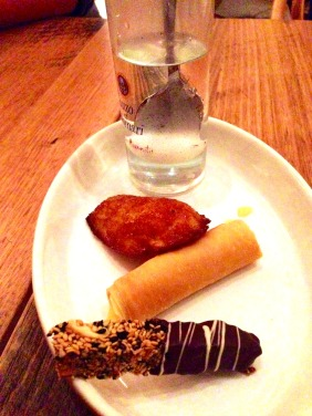 Greek pastries and ipovrihio submarines