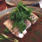 Steamed Cone Bay Barramundi with ginger and shallot