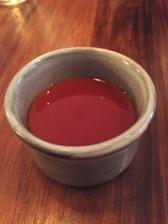 Jasmine tea custard, burnt caramel