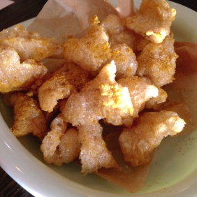 Crispy Pork Crackling with a hint of curry