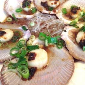 Steamed Scallops with XO Sauce