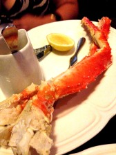 King crab legs with warm lemon butter