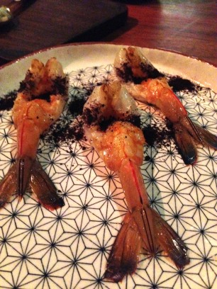 Prawns with Davidson Plum
