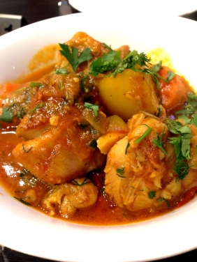 Kourmeh-e Mourgh - Chicken, ginger, garlic, yoghurt, Chana dal, sour plum, chilli