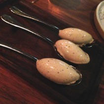 Wattleseed ice cream with woodear mushroom
