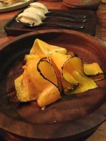 Pumpkin with roast beef