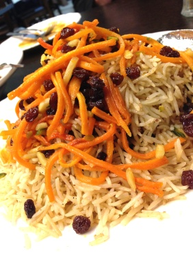Saturday special of Kaabeli Uzbeki - Afghani lamb pilaf - basmati rice, lamb shoulder, carrot, sultanas