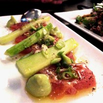 Yellowfin Tuna, soy and cucumber