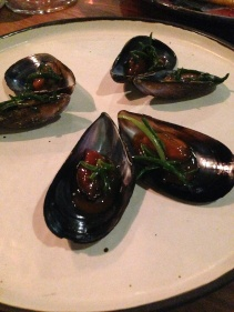 Mussel, granny smith apple and sea blight
