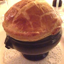 Lobster Bisque en Croute, Brandy Butter