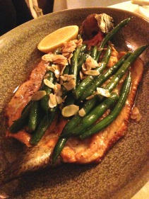 Whole Rainbow Trout and Almond Butter