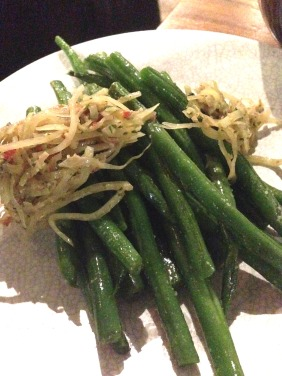 Green Beans with salted duck egg relish