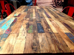 The rustic large table