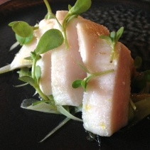 Swordfish belly, fennel, herb oil