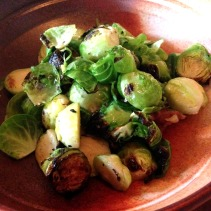 Brussel sprouts, smoked ham hock