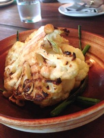 The daily special - roasted cauliflower with 25 year aged Pedro Ximinez