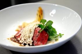 Photato - Pasi's pho-inspired dish - Potato noodles, wagyu chuck rib, enokis, water cress