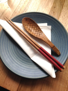 Loved this wooden 'fish' spoon