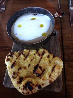 Jerusalem artichoke soup with chorizo