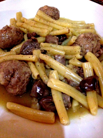 Casarecce with Chicken Dumplings and Reggiano