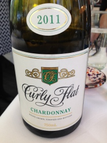 They had Curly Flat pinot by the glass!