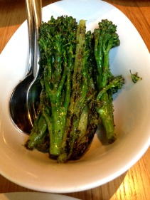 Grilled broccolini in rosemary and basil pesto