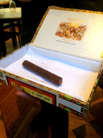 The chocolate cigar