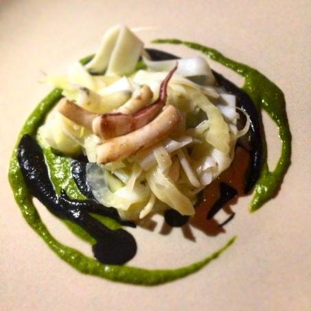 Cuttlefish, fennel and black garlic