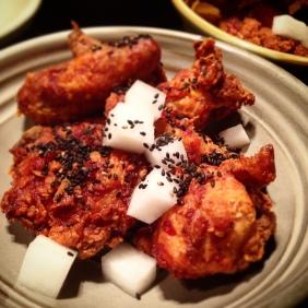 Shrimp-brined chicken from Moon Park
