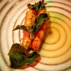 Marron, cultured buttermilk and horseradish, ice plant