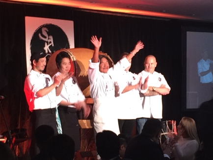 Chef Sakai is such a happy guy, and full of energy!