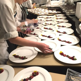 Plating up out the back